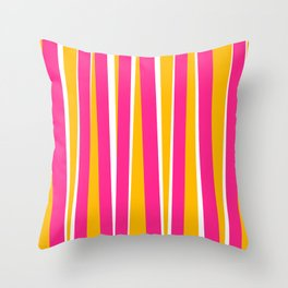 Chewy Candy Stripes Throw Pillow