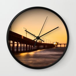 Street Lights on The Pier Wall Clock