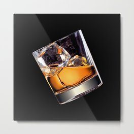 Whisky on the Rocks Metal Print