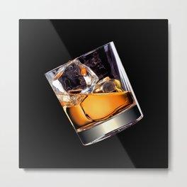 Whisky on the Rocks Metal Print