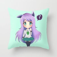 chibi Throw Pillows featuring Chibi by Alice