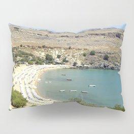 Rhodes, Greece Beach  Pillow Sham