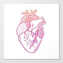 Designer Heart Canvas Print