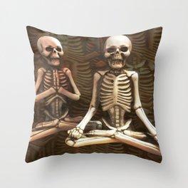 Zen Skeletons in my Closet Throw Pillow