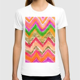 Shocking Pink & Gold Ikat T-shirt