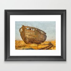 Painted Boat Dungeness Framed Art Print
