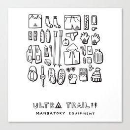 Ultra Trail - Mandatory Equipment Canvas Print
