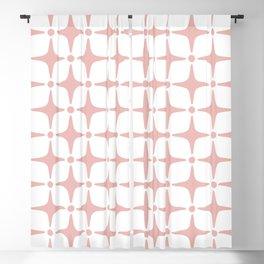 Mid Century Modern Star Pattern Dusty Rose Blackout Curtain
