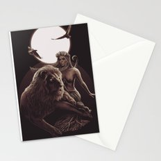 VIII. Strength Tarot Card Illustration Stationery Cards