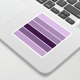 Lavender Purple Stripes Sticker