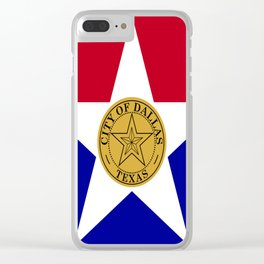 American cities-  Flag of Dallas. Clear iPhone Case
