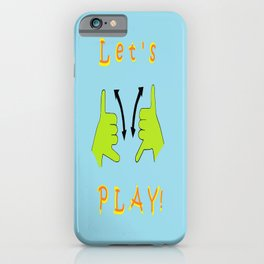 ASL Let's PLAY! iPhone Case