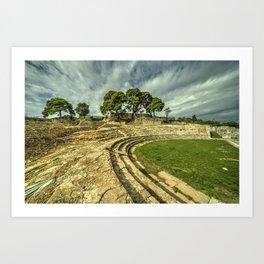 Pula amphiteatre  Art Print