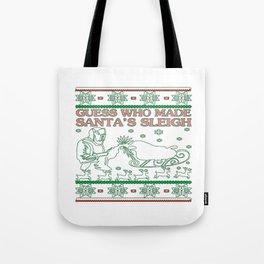 Welder Christmas Tote Bag