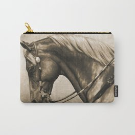 Western Quarter Horse Old Photo Effect Carry-All Pouch