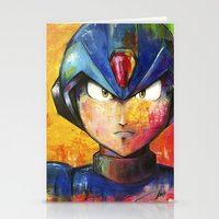 megaman Stationery Cards featuring Megaman by Jhaiku