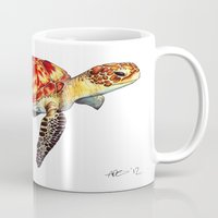 turtle Mugs featuring Turtle by Alexander Cox