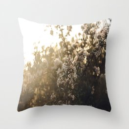 late night conversations with the moon Throw Pillow