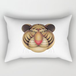 compasses tiger Rectangular Pillow