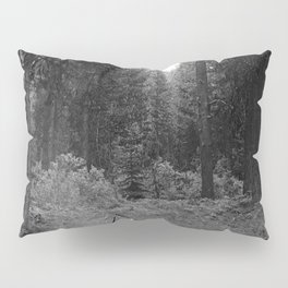 Backpacking Camp Fire B&W Pillow Sham