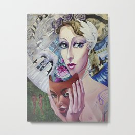 Lady Europe Metal Print