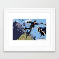 bioshock infinite Framed Art Prints featuring Bioshock Infinite - Catch, Booker by JD Faith
