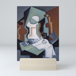 "Juan Gris ""Bottle and Fruit Dish"" Mini Art Print"