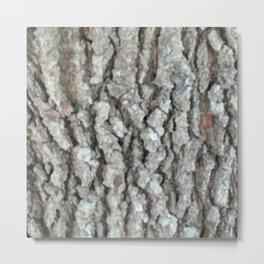 Real Wood Oak Tree Bark Camo Closeup Metal Print