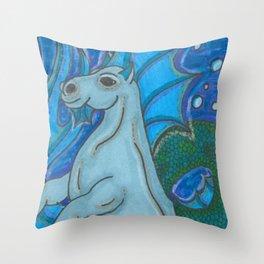 Waterhorse Throw Pillow
