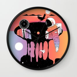 The Contemplation of Existence Wall Clock