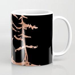 THE THREE SISTERS Trees Rose Gold Coffee Mug