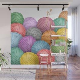So Much Yarn Wall Mural