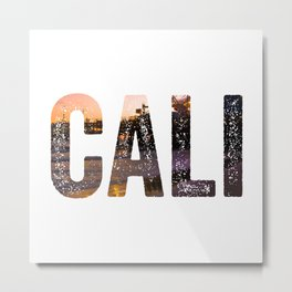 Cali Beach Metal Print