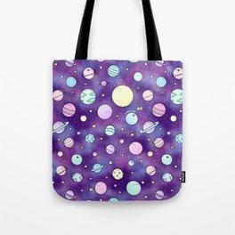 Need Some Space! Kawaii Galaxy Doodle Tote Bag
