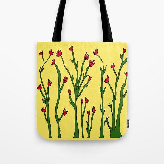 Long flowers Tote Bag