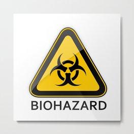 BIOHAZARD Sign Metal Print