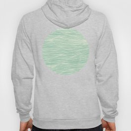 Jade Glow - abstract lines in cream & mint Hoody