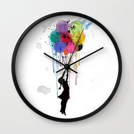 wild drips Wall Clock