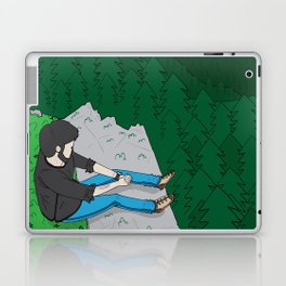 Looking over the mountains Laptop & iPad Skin