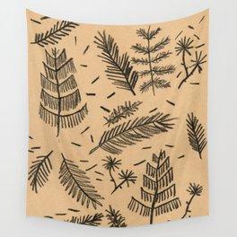 Kraft Paper Pine Wall Tapestry