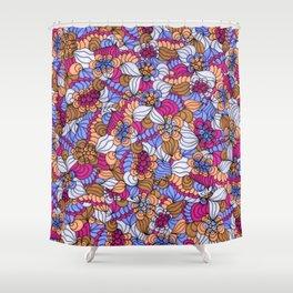 Rustic Swirly Flowers Shower Curtain