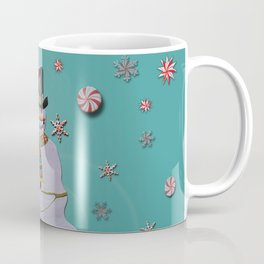 Blue Haze Snowman Ornaments Coffee Mug