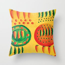 Carrots and Peas Throw Pillow