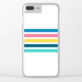 Retro Stripes 02 • Summer Fair Clear iPhone Case