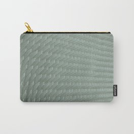 Abstract White Minimal Pattern Carry-All Pouch
