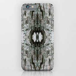 Abstract Maple Tree Bark - Natural Patterns - Maple & Lichen - Old Mossy Maple Tree Bark iPhone Case