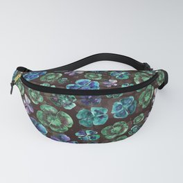 Watercolor Clover Oxalis Leaves Fanny Pack