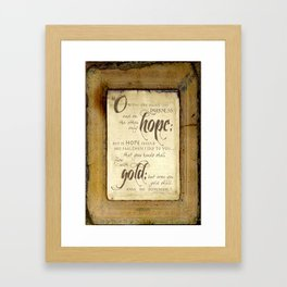 Only Hope Framed Art Print