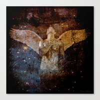 angel Canvas Prints featuring angel  by mark ashkenazi