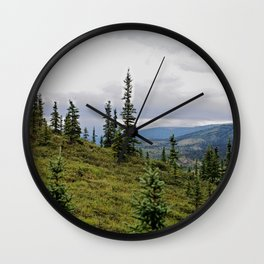 happy little trees Wall Clock